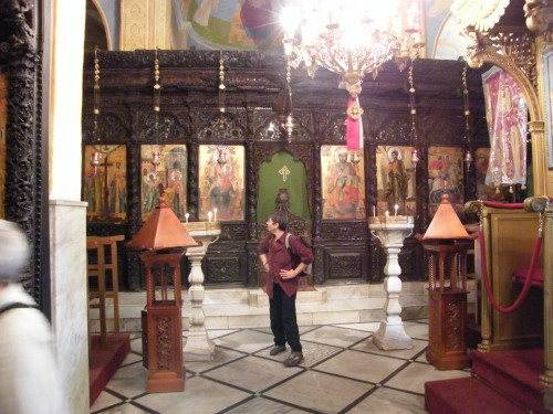 Iconostasis in the greek Orthodox Church of the Annunciation
