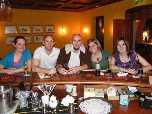 Our wee group at the bar..