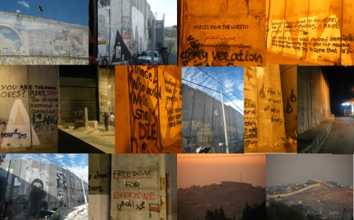 Bethlehem 'security' wall collage