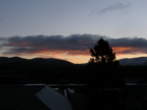 Sunrise over Aviemore