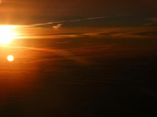 Sunrise at 36,000 feet