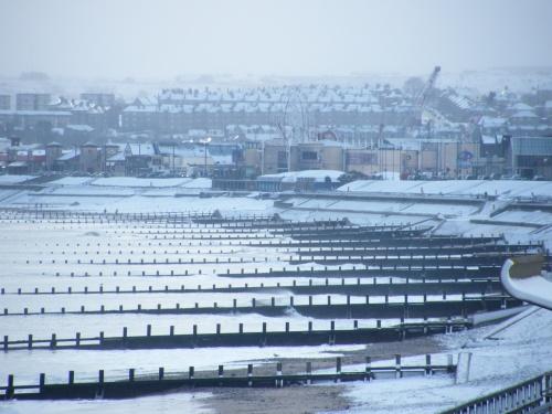 Aberdeen Beach in the snow